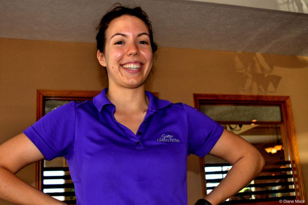 Friendly Server at the Gorge Country Kitchen Restaurant. Elora, Ontario, Canada