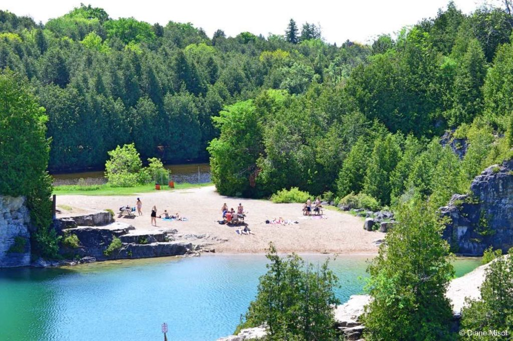 Grand River and Elora Quarry Beach. Ontario, Canada