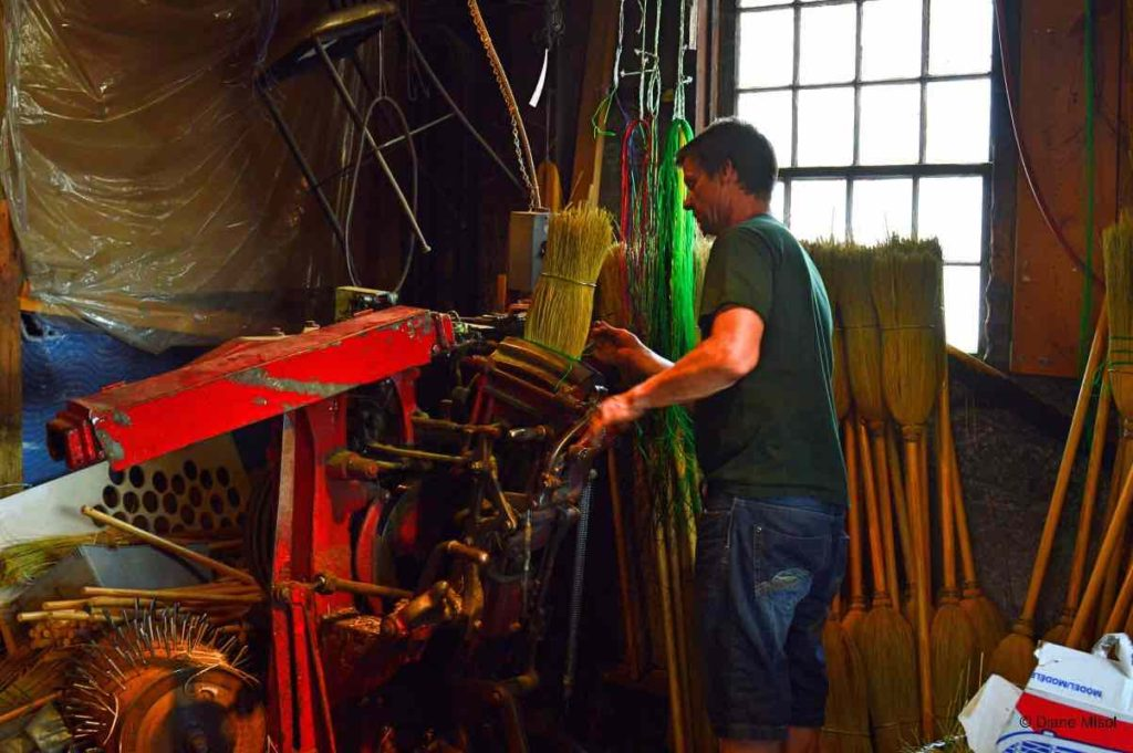 Hand Making Brooms. St. Jacobs, Ontario, Canada