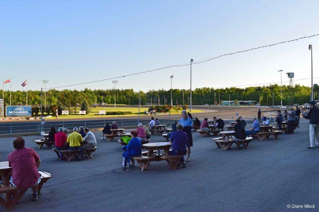 Outdoor, Track Level Seating. Horse Races, Mohawk Racetrack