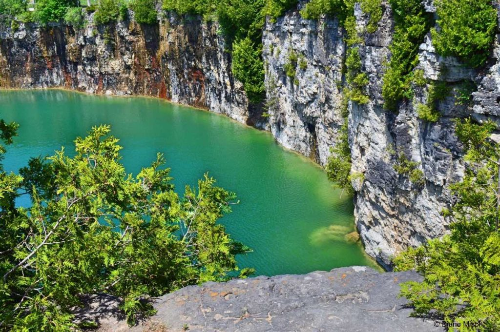 Sheer Quarry Walls. Elora, Ontario, Canada