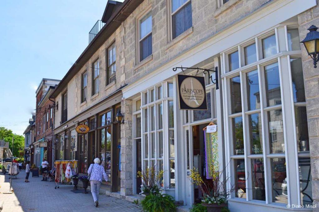 Shops of Mill Street. Elora, Ontario, Canada