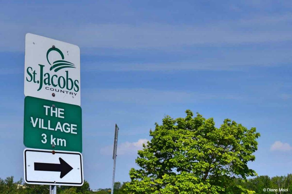 St. Jacobs the Village Sign. Ontario, Canada