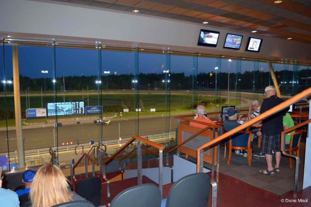 View from the Grandstand. Mohawk Standardbred Harness Racing