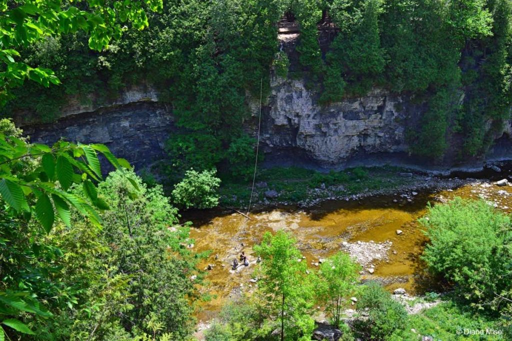View from a Zipline, Elora, Ontario, Canada