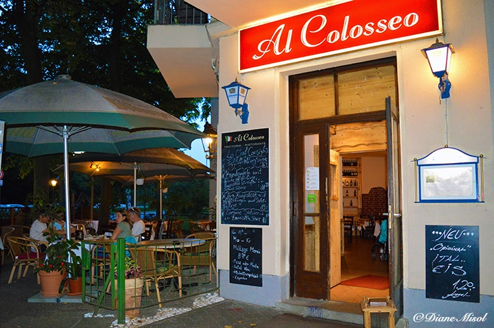 Patio and Exterior of Al Colosseo Italian Restaurant in Berlin. A Review