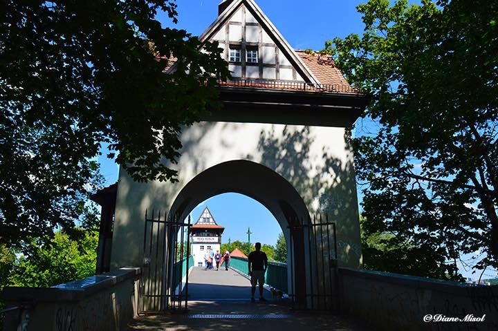 Abbey Bridge Tower Entrance. Berlin Island of Love.