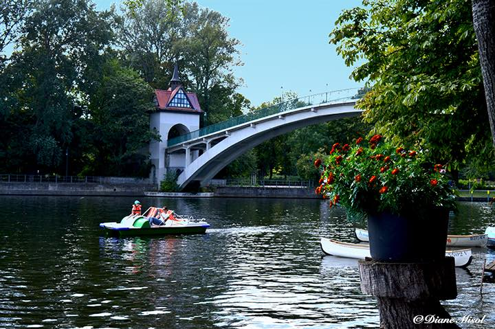 View of Abbey Bridge from Insel der Jugend, Berlin