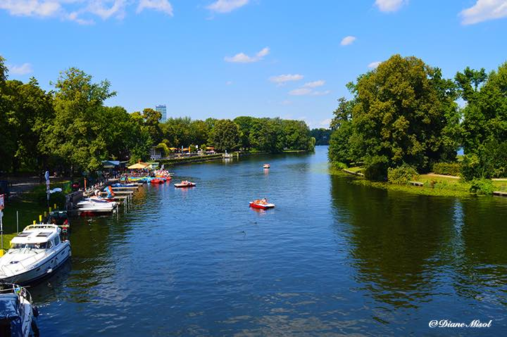 View from Abbey Bridge. Insel der Jugend, Berlin Island