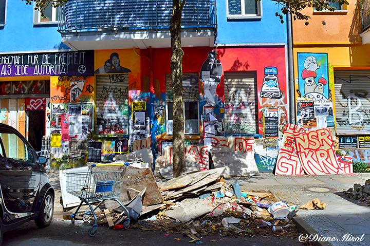 Destruction in the Name of Freedom. Rigaer Str. 94, Friedrichshain, Berlin