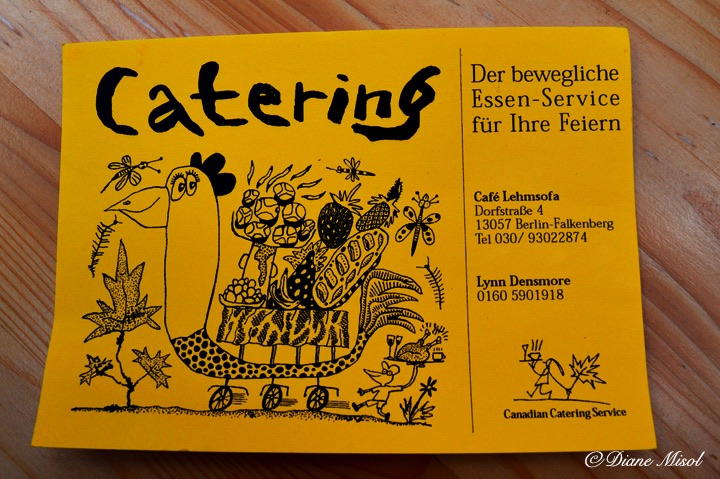 Catering Card. Cafe Lehmsofa Restaurant Review