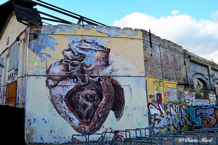 Man in Heart. RAW, Friedrichshain. Berlin is on Fire