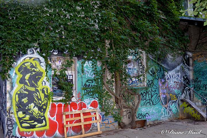 Overgrown Graffiti House, RAW, Friedrichshain, Berlin