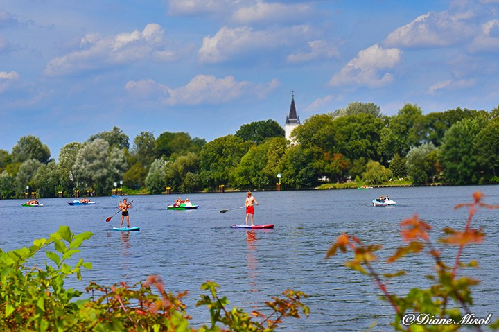 Paddling the Spree in Treptower Park, Berlin