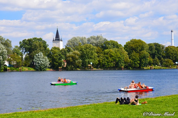 summer days paddle boats treptower park berlin. Black Bedroom Furniture Sets. Home Design Ideas