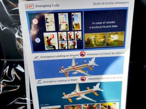 Emergency Airplane Instructions