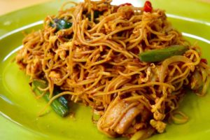 Chicken Fried Vermicelli Noodles, Spicy - Hawker Stall, Singapore