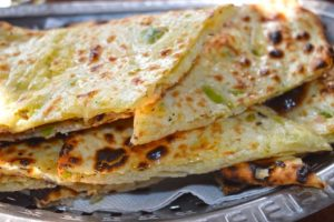 Spicy Cheese Garlic Naan Bread - Goa Indian Food