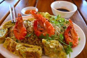 Bia Tuoi Phu Quoc Restaurant - Rice and Shrimp - Vietnam