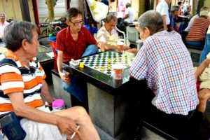 Checker Board Game - Chinatown, Singapore