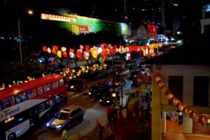Chinatown Streetlights at night - Singapore