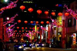 Decked out streets for CNY - Singapore