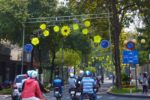 Decorated Ho Chi Minh Street - Vietnam