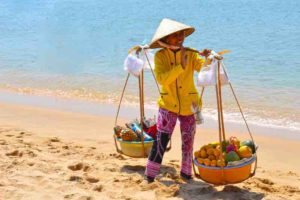 Fruit Lady - Long Beach - Phu Quoc, Vietnam