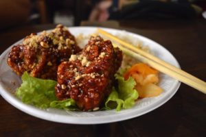 Korean Spicy Fried Chicken - Ben Thanh Street Food, Saigon