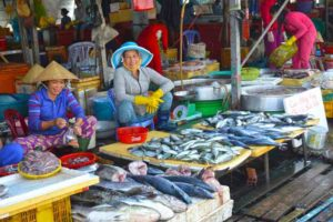 Ladies Selling Fish at the Market - Phu Quoc, Vietnam