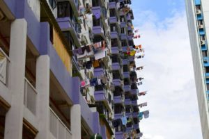 Laundry in the Sky - Chinatown, Singapore