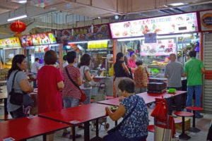 Line up at a Hawker Food Stall - Chinatown, Singapore