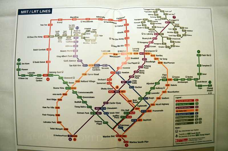 Mrt Lines Subway Map Singapore Travelfooddrink Com