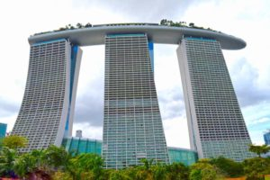 The Marina Bay Sands Hotel, view from the Gardens - Singapore