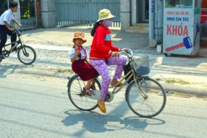 Mother Daughter Bike - Ho Chi Minh, Vietnam