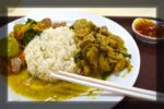 Rice with Green Curry Fried Pork - Tesco Lotus, Bangkok