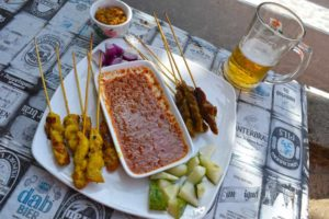 Snack of Satay at Sugar - Tengah Beach, Langkawi-Malaysia