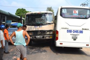 Truck Drives Into our Bus - Vietnam