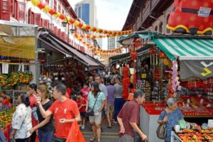 Vibrant Chinese New Year Street Market - Singapore