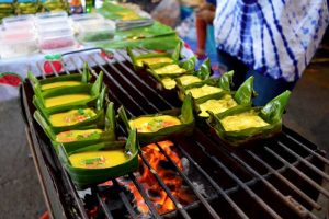 Banana Leaf Egg Boats - Night Market, Chiang Rai, Thailand