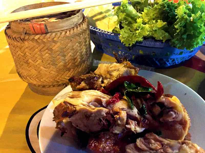 Banking Restaurant - BBQ Chicken and Sticky Rice - Vang Vieng, Laos
