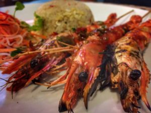 Barbecued Shrimp at Thu Phuong Restaurant - Phu Quoc, Vietnam