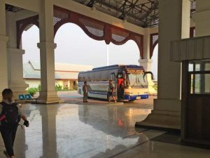 Early Morning Night Bus Arrival at the Border of Thailand and Laos - (Laos Side)