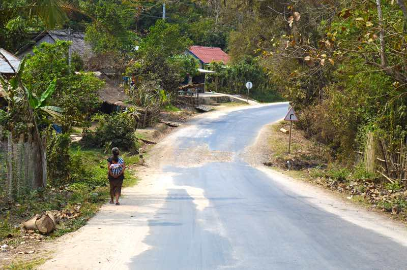 Country Road from the Falls to Luang Prabang