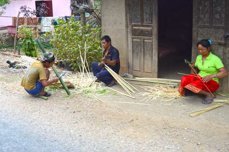 Family at Work - Laos