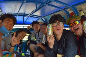 Group Fun in the Tuk Tuk - Laos