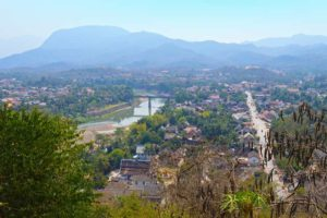 Hazy View from Phousi Mountain - Luang Prabang