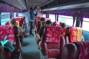 Inside of the Night Bus from Luang Prabang to Chiang Rai