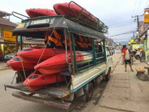 Kayak Transport - Vang Vieng, Laos