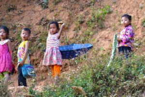 Kids by the Road - Laos